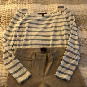 WHBM striped T and skinny ankle ponte pant